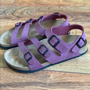 Birkenstock birkis triple strap buckle sandals